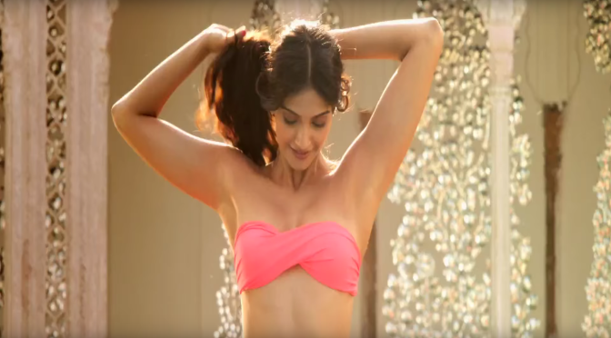 Sonam Kapoor in Pink Bikini in Bewakoofiyan